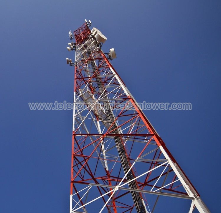 Steel Cellular Isp Wifi Self Supporting Communication Tower