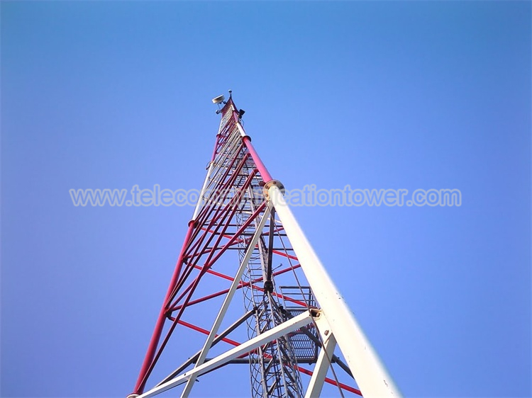 Hot Dip Galvanized Four Legs Telecom Tower
