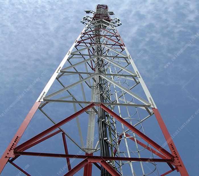 Steel Bts Cellular Isp Wimax Wifi Steel Lattice 3 Leg 60m