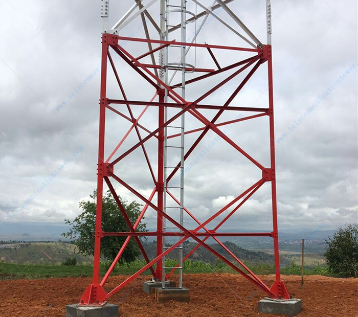 Steel Telecommunication Bts Hot Dipped Galvanizing Made In China Cell Tower