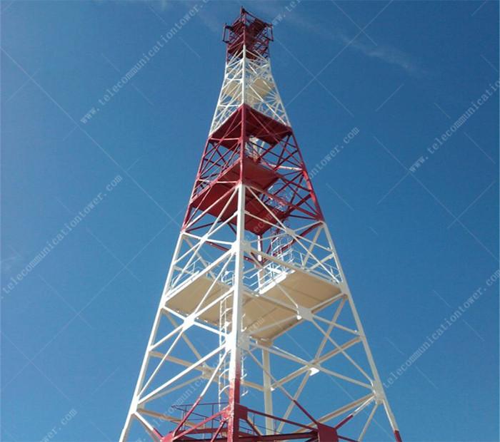 GSM Telecom Angular Lattice Steel Antenna Tower