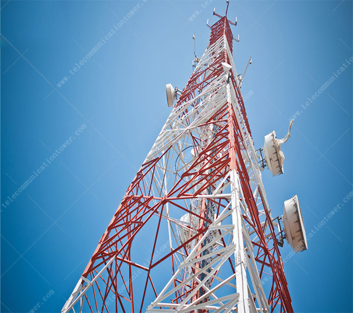 Steel 4-Leg Microwave Antenna 5km Wifi Tower