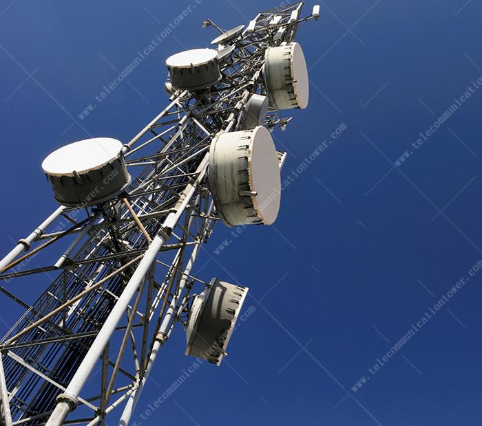 Three Legged Tubular Communication Steel Tower Manufacturer