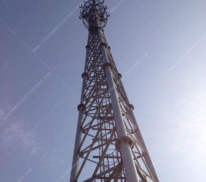 Three Legged Tubular Communication Steel Tower Manufacturer
