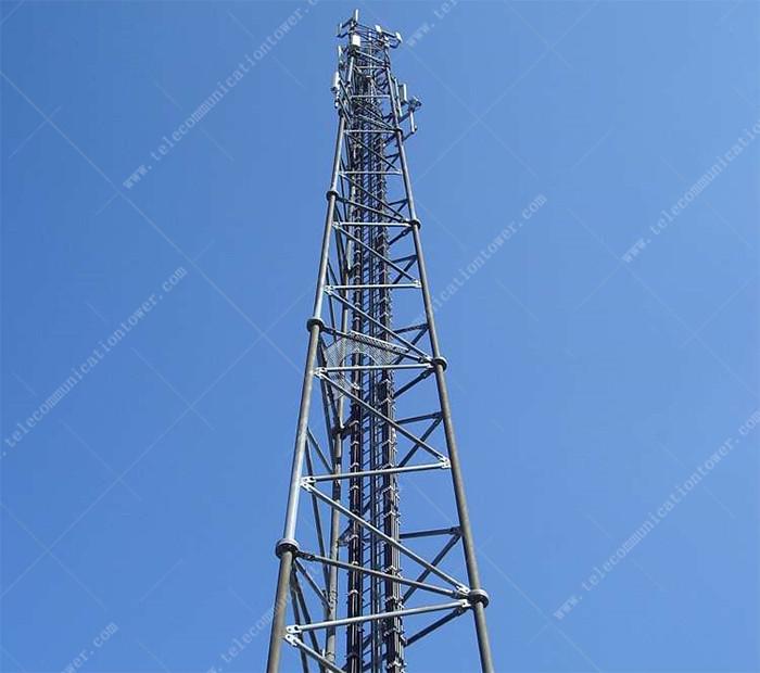 Hot Dipped Galvanized Antenna Telecom Shelter 4g Base Station Lattice Tower