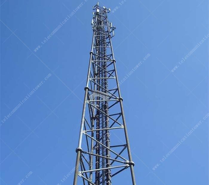 Self-Supporting Tubular Steel Gsm Mobile Antenna Telecom Tower