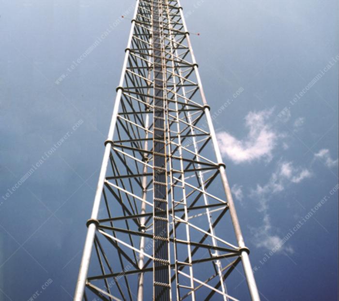 30m Hdg Galvanized Telecom Antenna Lattice Three Legged Tubular Steel Tower