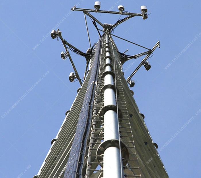 GSM Telecom 3 Legs Tubular Steel Antenna Tower