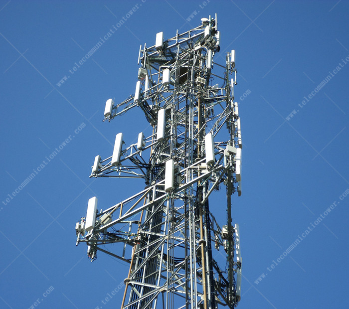 Steel Isp 80m Telecom Shelter Self Supporting Tower