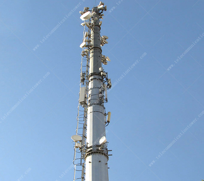 4 G Antenna Wife Telecom 20 Meter Twelve Sides Cell Tower