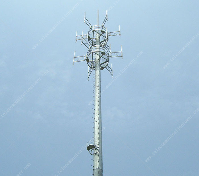 4 G Antenna Wife Telecom Eight Sides Powder Painted Cell Tower