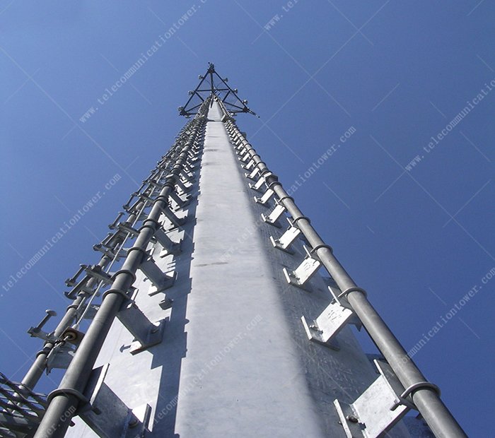 Steel Structure Factory Telecom Shelter Monopole Tower