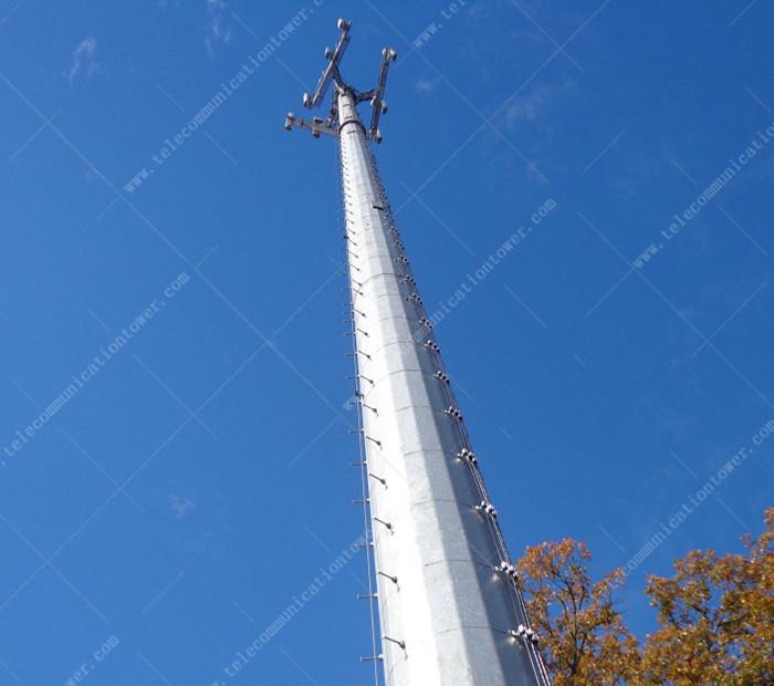 30 Meter Monopole Painting Coating Wifi Tower