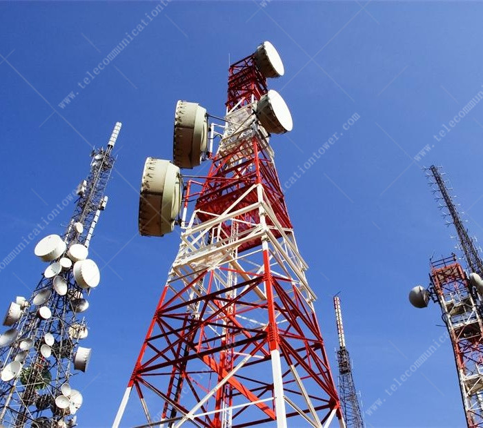 Factory Price 4-Legged Angle Steel Microwave Antenna Lattice Tower