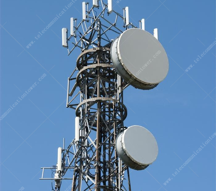 Galvanized Microwave Antenna And Communication Self Supporting Tower