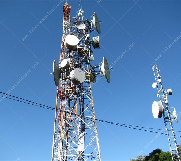 3 Legged 4G Wireless Telecommunication Tower