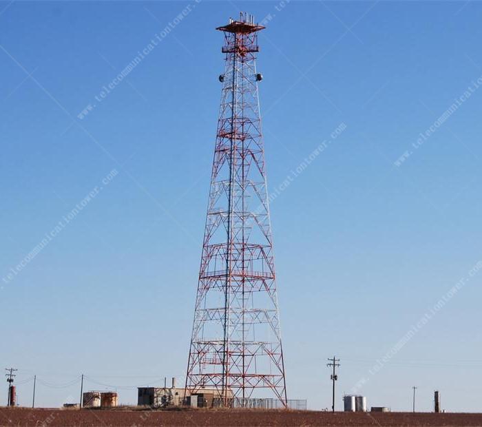 Galvanized 4 Legs Angle Steel WiFi Communication Tower