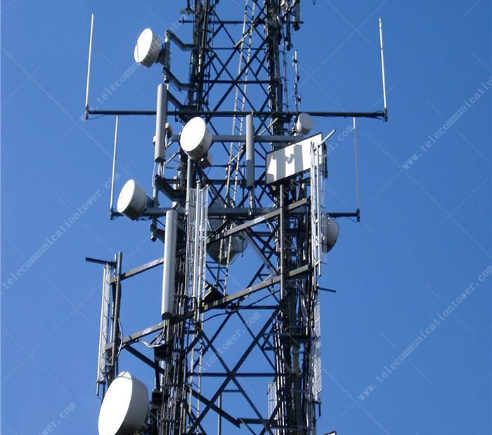 ASTM Hot Dip Galvanized Telecom Steel Lattice Tower