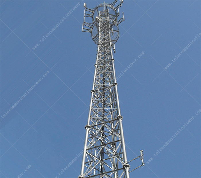 3 Legged Tubular Lattice Steel Telecommunication Tower