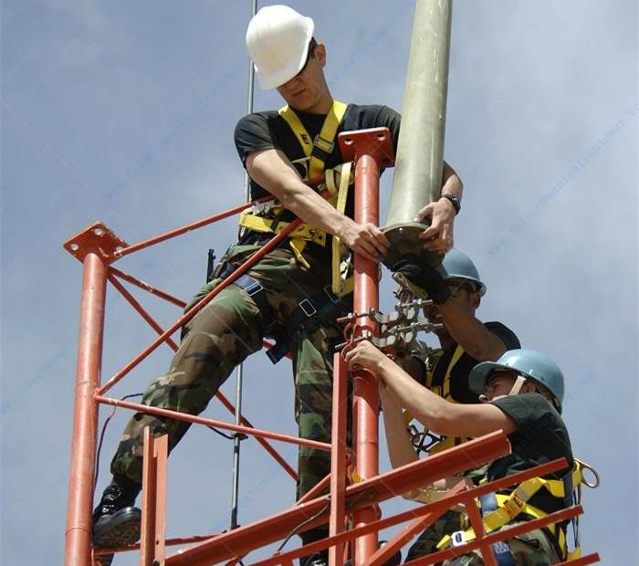 3 Legged Tubular Lattice Steel Telecommunication Tower