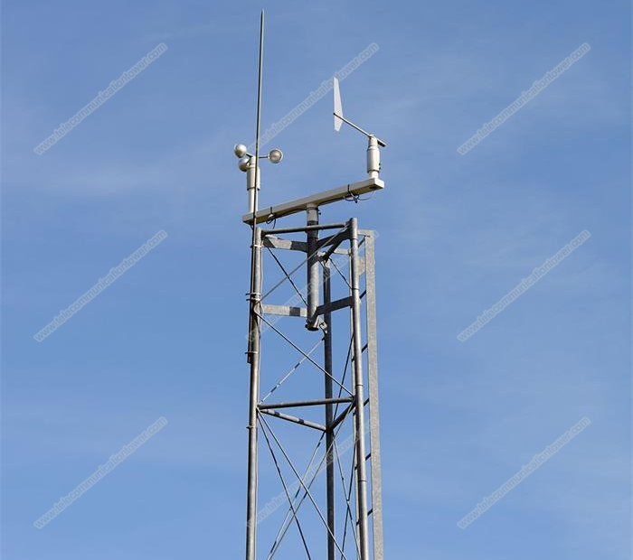 Guyed Wire Wind Measurement Tower