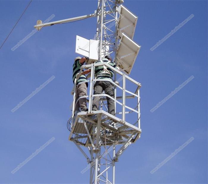 Steel Wind Measurements 3 Legged Guyed Tower