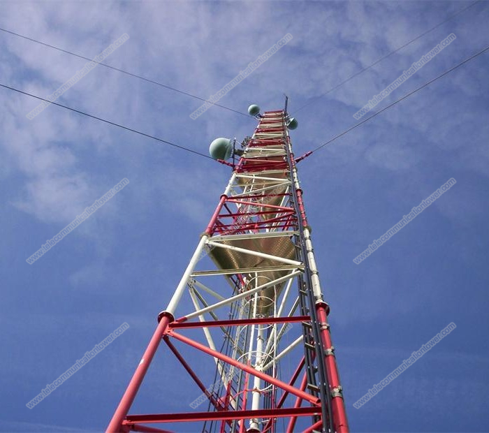 Guyed Wire Communication Tower