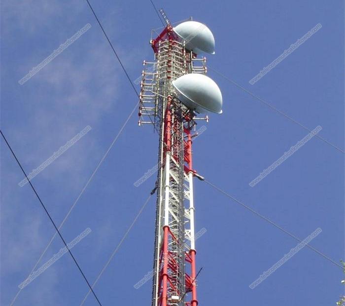 Pole Type Communication Telecom Guyed Tower
